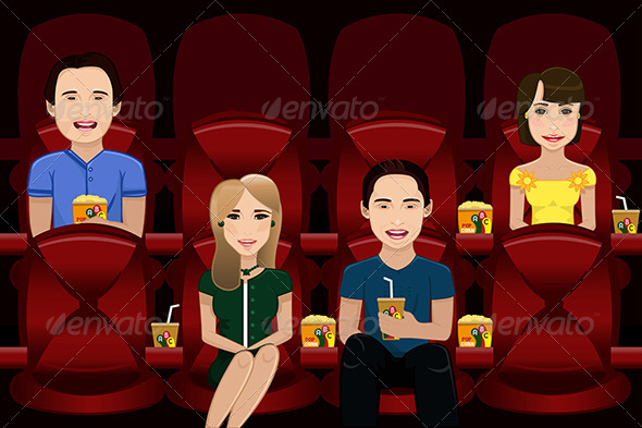 GraphicRiver People Watching Movie 6996731