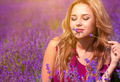 Beautiful girl on the lavender field - PhotoDune Item for Sale