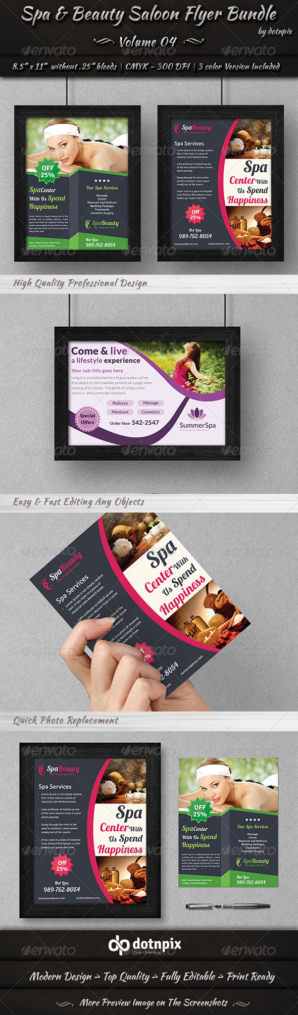 GraphicRiver Spa & Beauty Saloon Flyer Bundle Volume 4 6997093