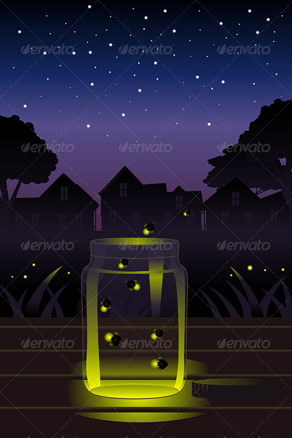 GraphicRiver Fireflies in the Jar 6997223