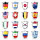 Soccer Flags on Shields - GraphicRiver Item for Sale
