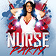 Nurse Party Flyer - GraphicRiver Item for Sale