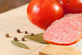 slices of salami, tomatoes and bay leaf - PhotoDune Item for Sale