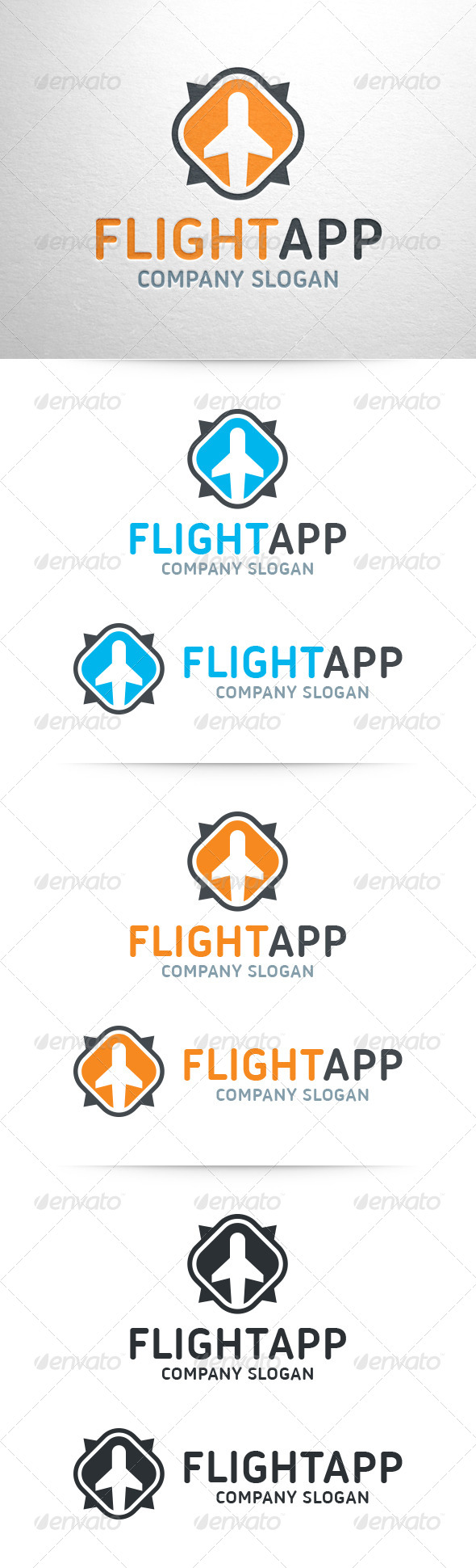 GraphicRiver Flight App Logo Template 6997914