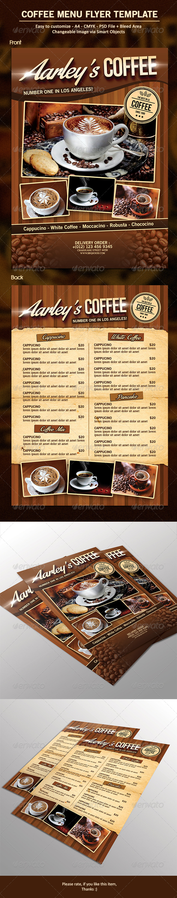 GraphicRiver Coffee Menu Flyer 7000144