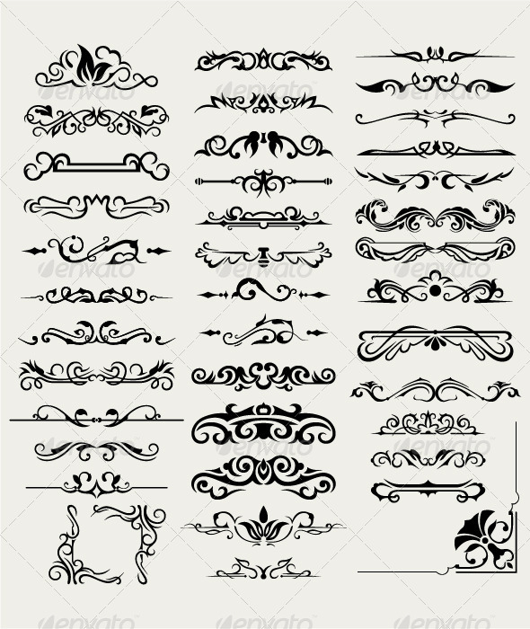GraphicRiver Collection of Ornamental Elements 7000305