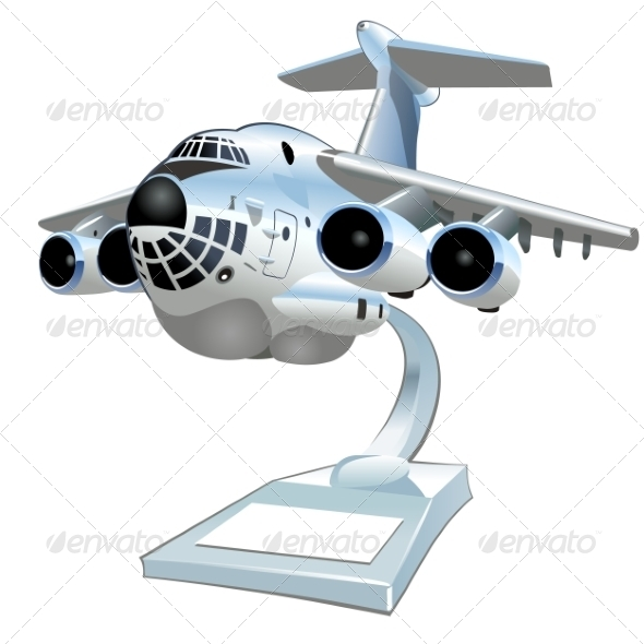 GraphicRiver Vector Cartoon Cargo Airplane 7000637