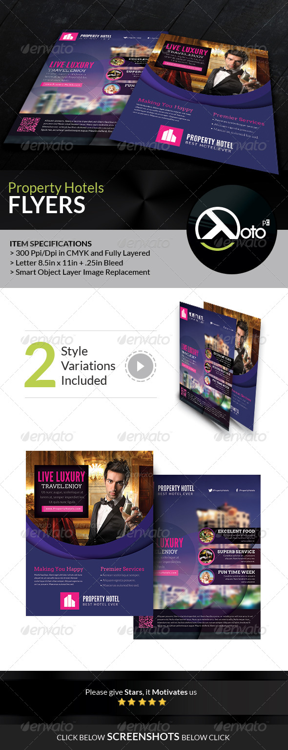 GraphicRiver Property Hotel Promotion Flyers 7001254