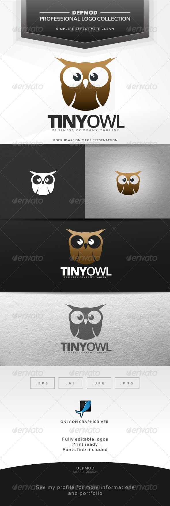 GraphicRiver Tiny Owl Logo 7001264