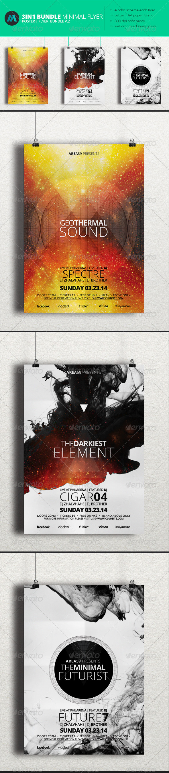 GraphicRiver Minimal Flyer Bundle 2 7002294