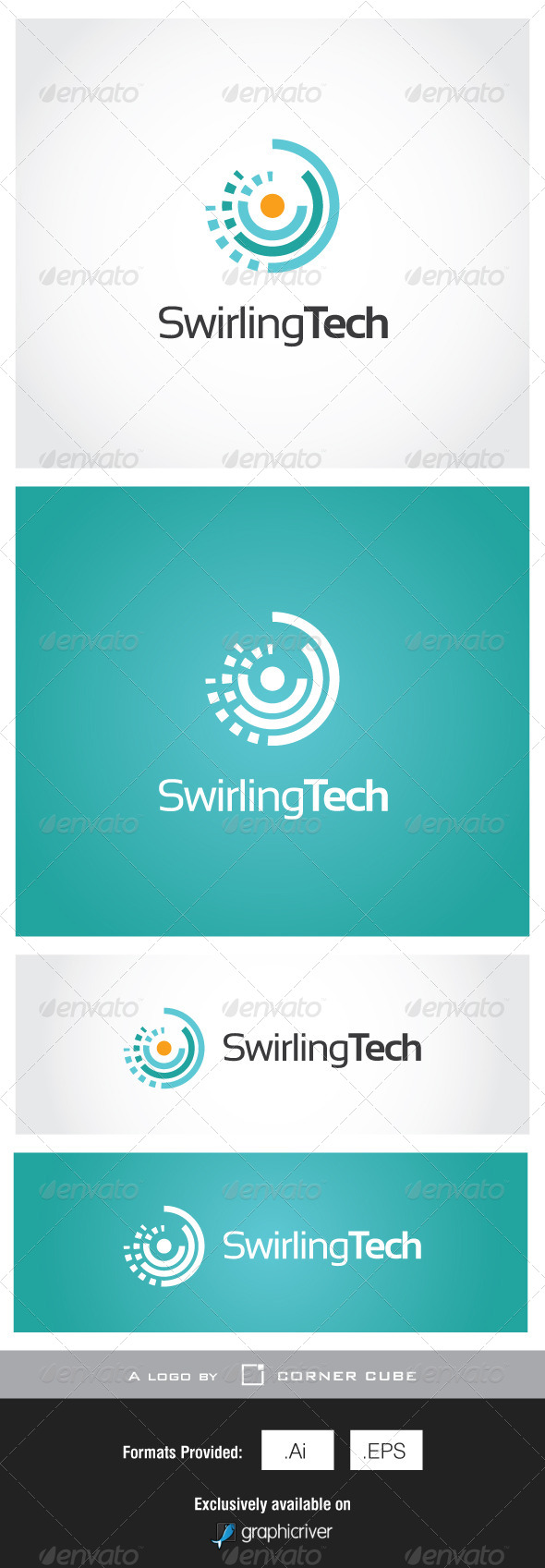 GraphicRiver Swirling Tech Logo 7002927