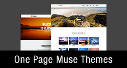 * One Page Muse Themes