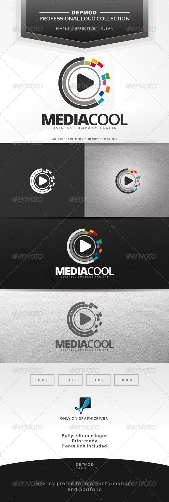 GraphicRiver Media Cool Logo 7003150