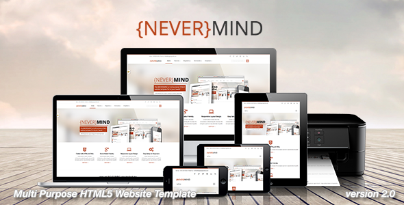 Nevermind - All in One HTML5 Website Template - Portfolio Creative