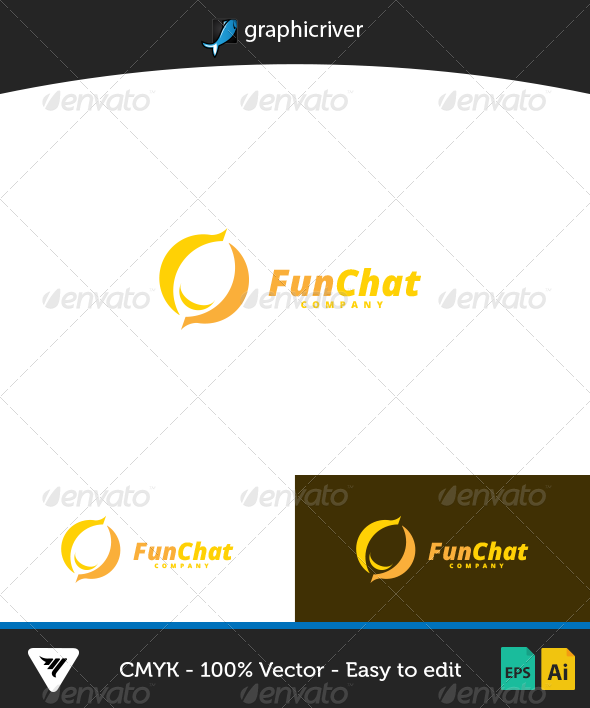 GraphicRiver FunChat Logo 7003736