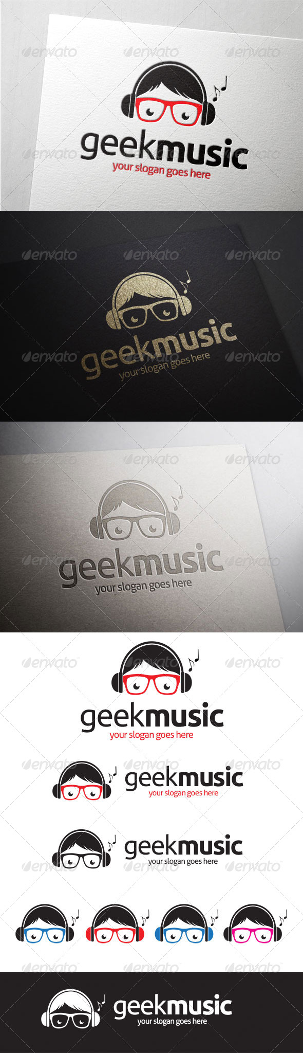 GraphicRiver Geek Music Logo 7003755