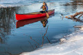 canoe paddling in winter - PhotoDune Item for Sale