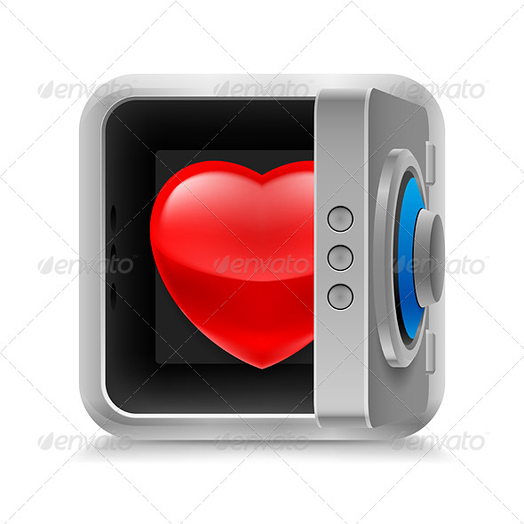 GraphicRiver Heart in Safe 7004390