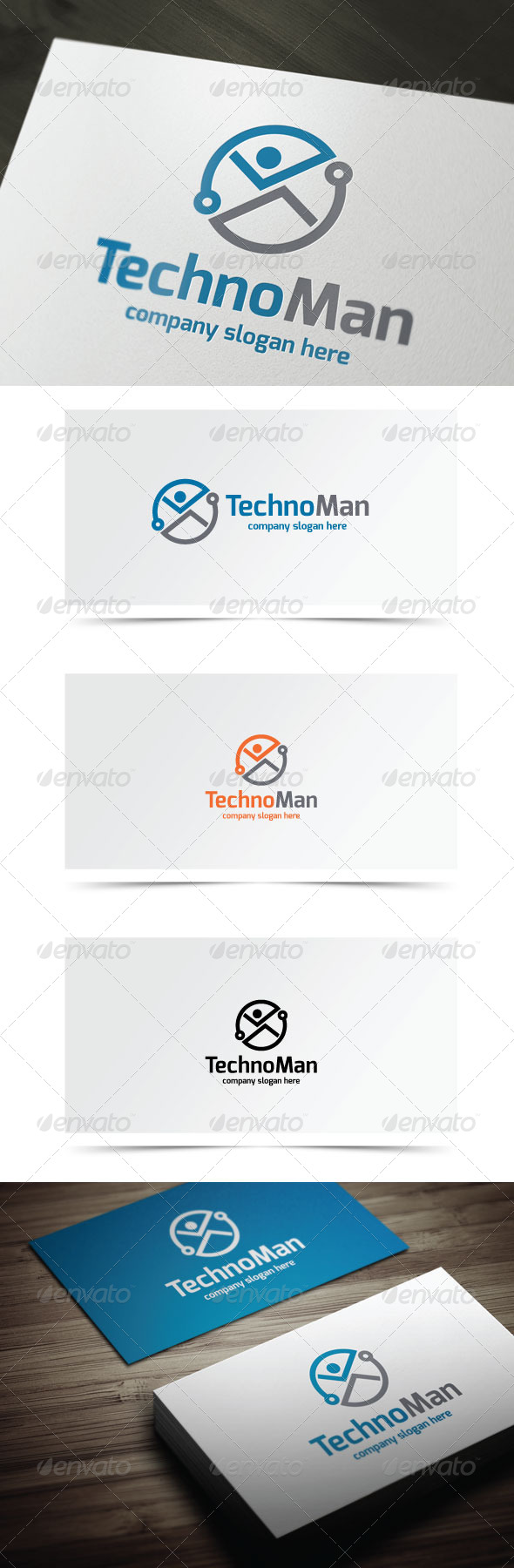 GraphicRiver Techno Man 7004536
