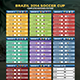 Soccer Cup 2014 Fixture - English and Spanish - GraphicRiver Item for Sale