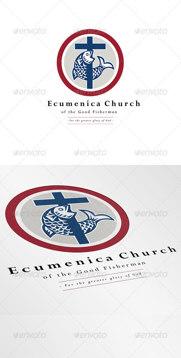 GraphicRiver Ecumenica Church Good Fisherman Logo 7005684