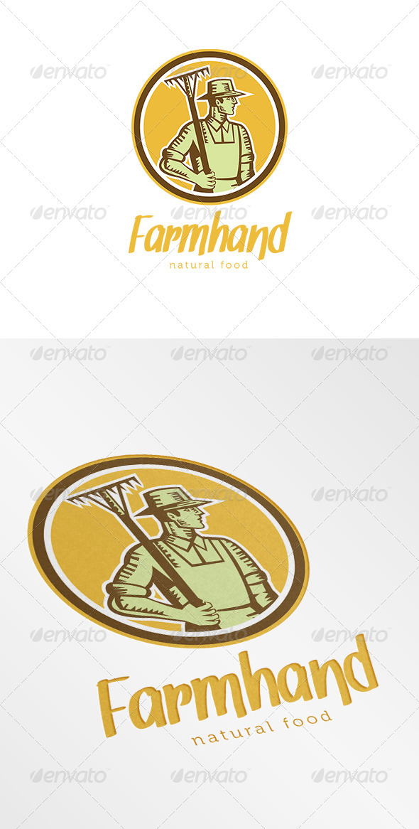 GraphicRiver Farmhand Natural Logo 7005868