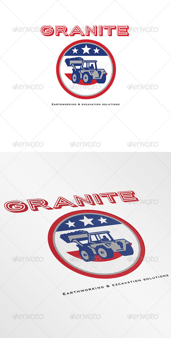 GraphicRiver Granite Earthmoving and Excavation Solutions Logo 7005890