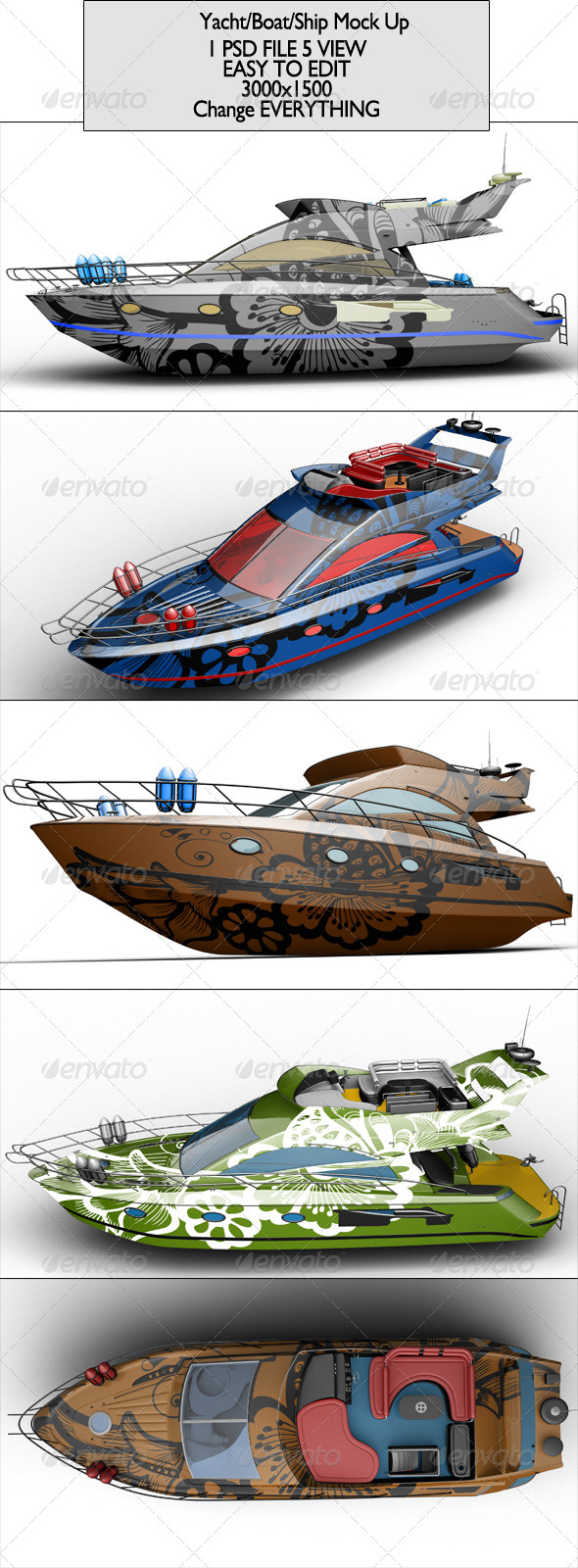 GraphicRiver Yacht Boat Ship Mock Up 7005918