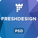 FreshDesigne - Creative Portfolio PSD Template - ThemeForest Item for Sale