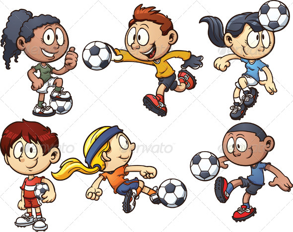 GraphicRiver Soccer Kids 7006443