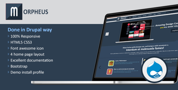 ThemeForest Morpheus Multipurpose Drupal Theme 7007055
