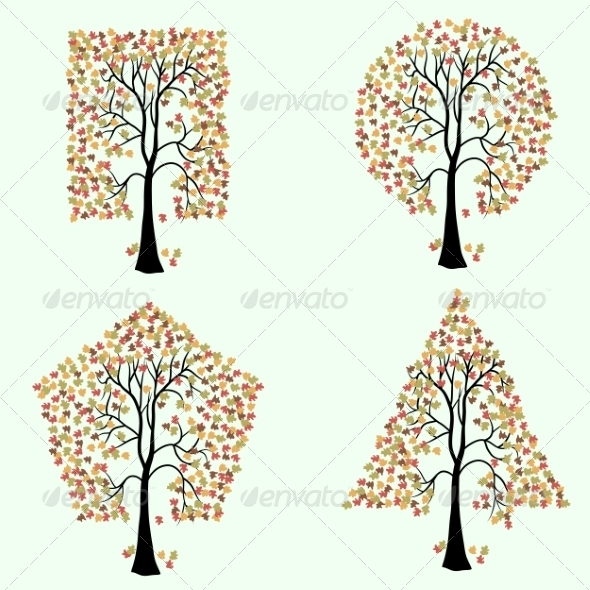 GraphicRiver Trees of Different Geometric Shapes 7007063