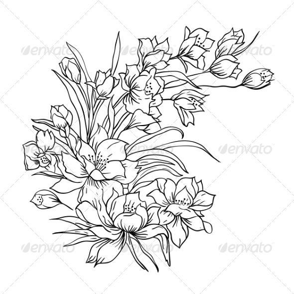 GraphicRiver Flower Bouquet 7007074