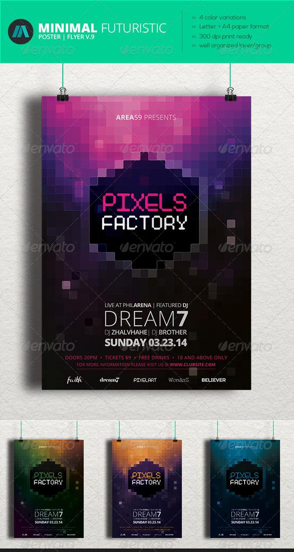 GraphicRiver Minimal Futuristic Poster Flyer V.9 7007192