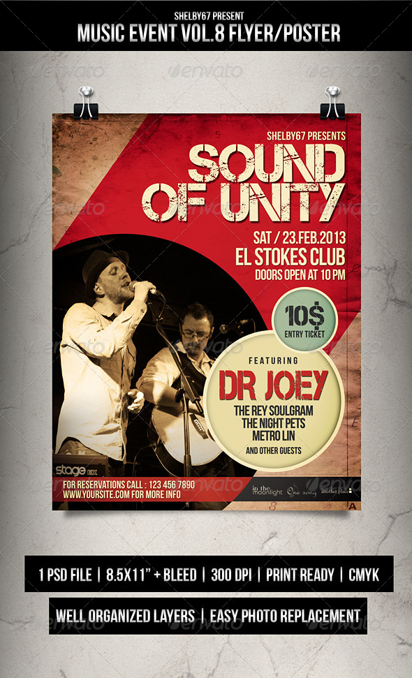 GraphicRiver Music Event Flyer Poster Vol.8 7007958