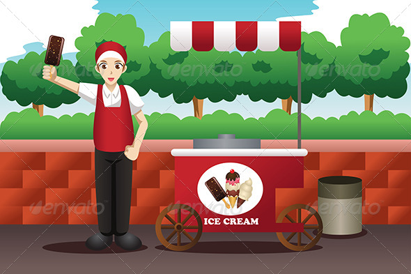 GraphicRiver Ice Cream Man 7007991