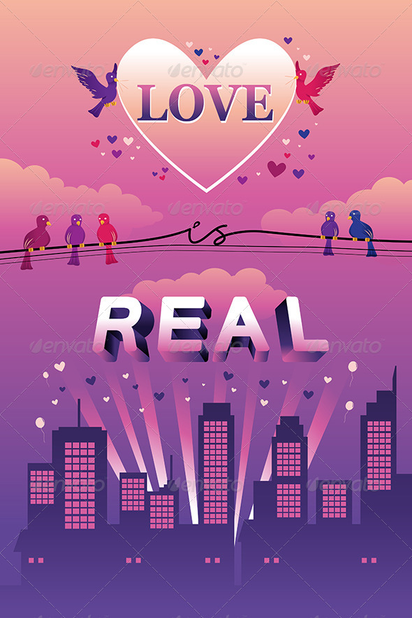 GraphicRiver Love is Real Design 7008126