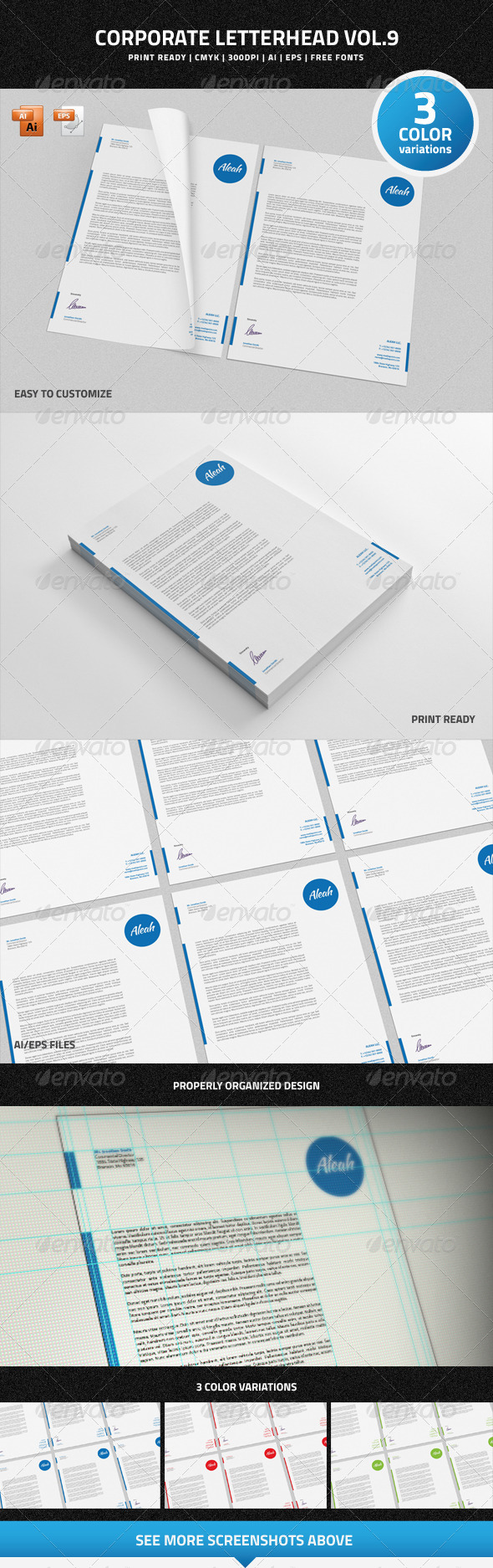 GraphicRiver Corporate Letterhead vol.9 7008552