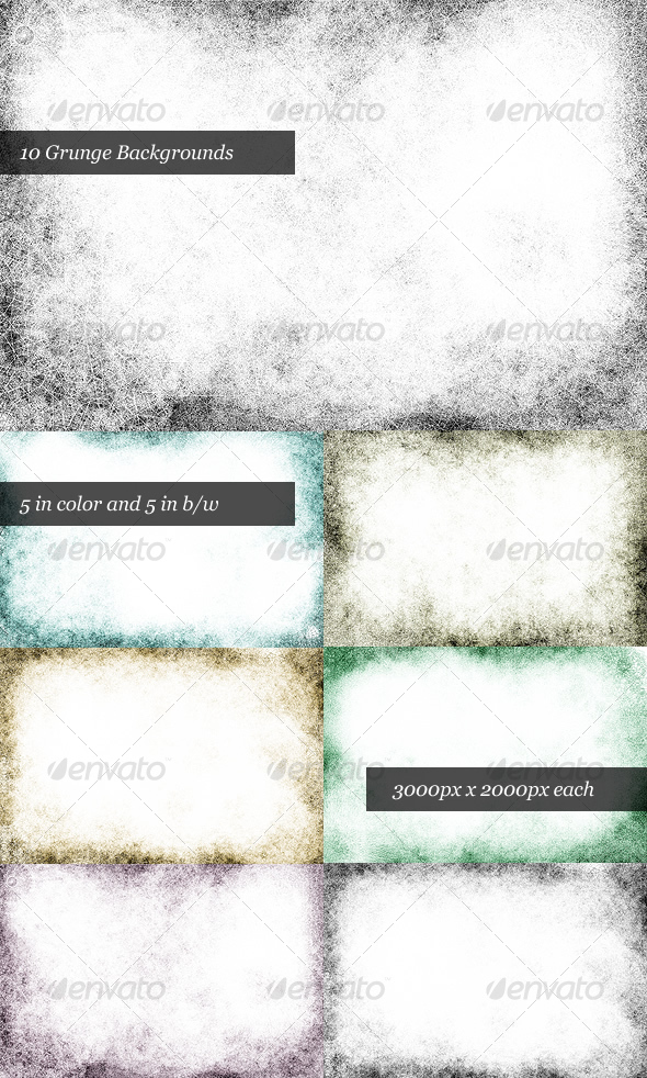 GraphicRiver Dirty Grunge Background Pack 10 Backgrounds 29798