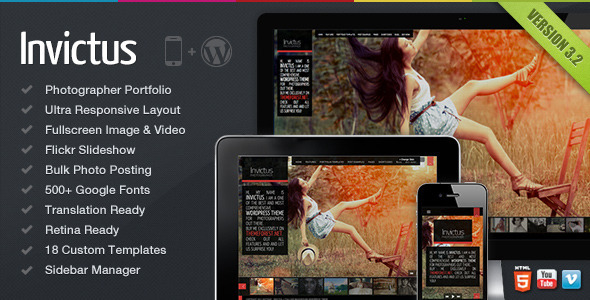 Invictus - A Premium Photographer Portfolio Theme - Photography Creative