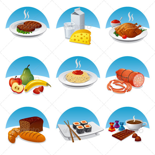GraphicRiver Food Icon Set 7009501