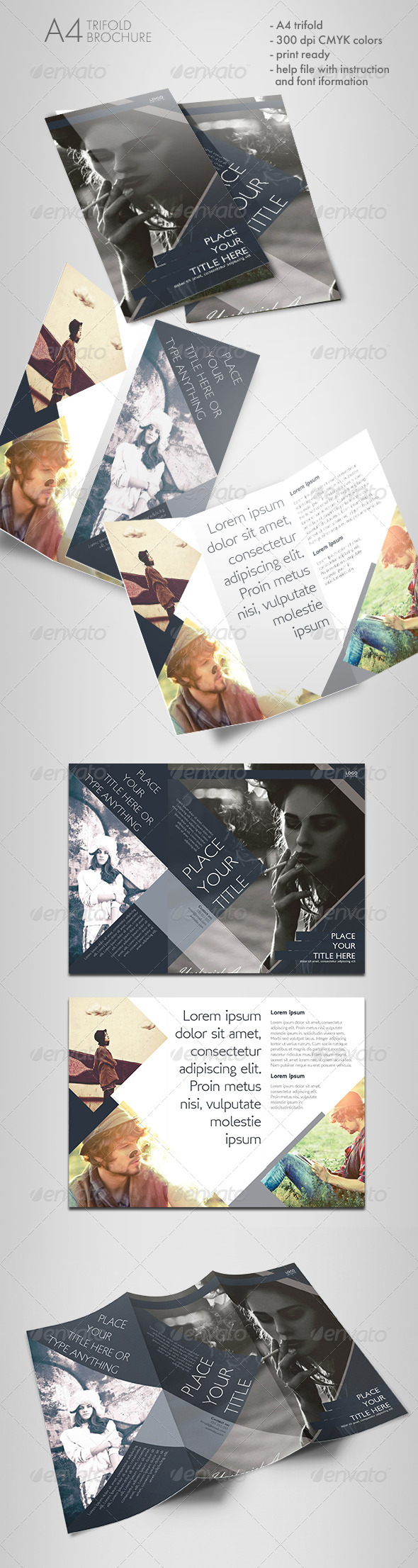 GraphicRiver Shaped Trifold Brochure 7010029