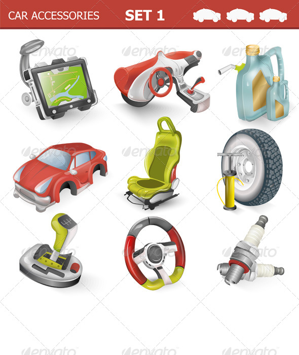 GraphicRiver Car Accessories 7010758