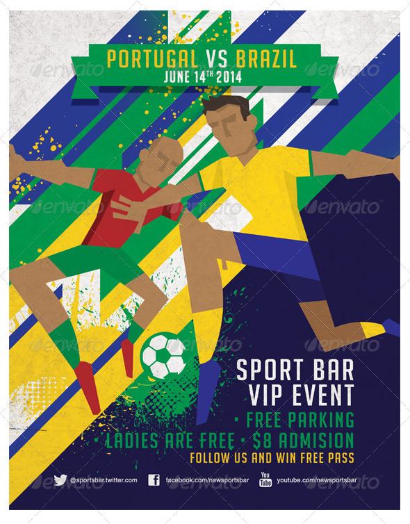GraphicRiver Dynamic Football Poster Fully Editable 7006283