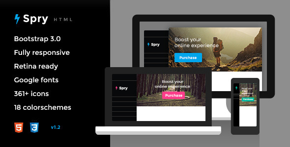 Spry - Responsive HTML5 Template - Creative Site Templates