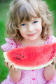 Happy child eating watermelon - PhotoDune Item for Sale