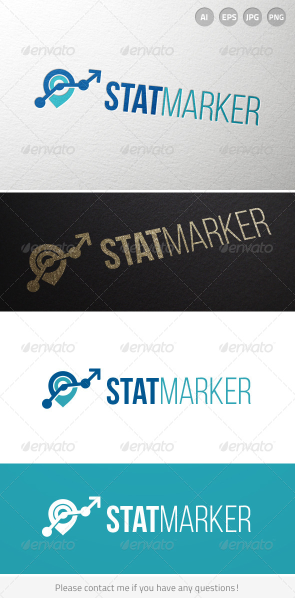 GraphicRiver Stat Marker Logo 7013094
