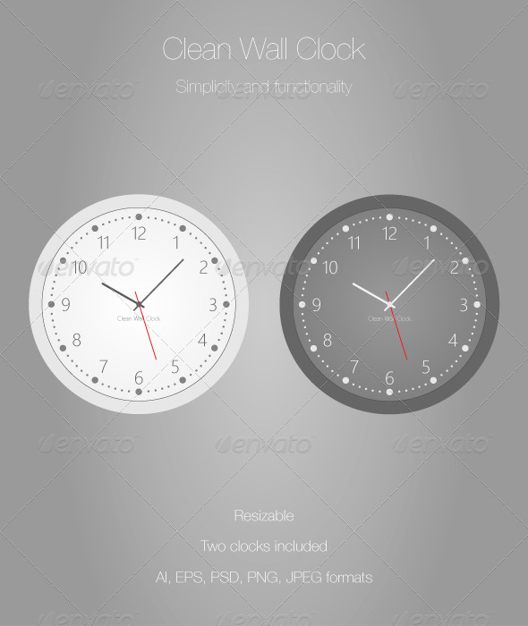 GraphicRiver Clean Wall Clock 7013686