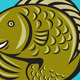 Trout Fish Jumping Circle Cartoon - GraphicRiver Item for Sale
