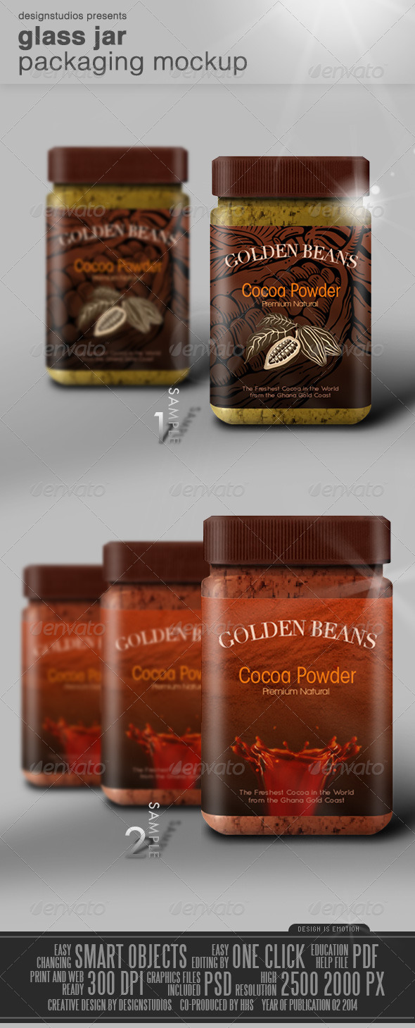 GraphicRiver Glass Jar Packaging Mock-Up 7014042